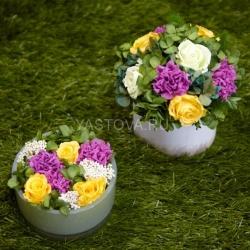 Стабилизированные цветы. Декоративная интерьерная композиция арт. STB0015