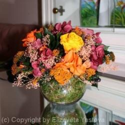 Стабилизированные цветы. Декоративная интерьерная композиция арт. STB0481