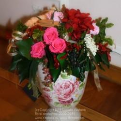 Стабилизированные цветы. Декоративная интерьерная композиция арт. STB1028