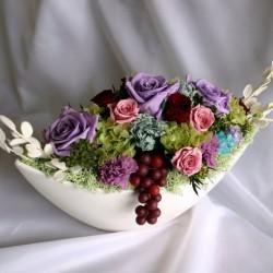 Стабилизированные цветы. Декоративная интерьерная композиция арт. STB1210