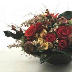 Стабилизированные цветы. Декоративная интерьерная композиция арт. STB1212