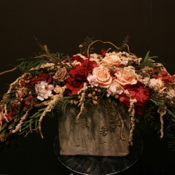 Стабилизированные цветы. Декоративная интерьерная композиция арт. STB1213