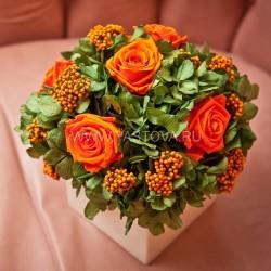 Стабилизированные цветы. Декоративная интерьерная композиция арт. STB1398