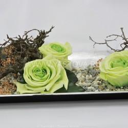 Стабилизированные цветы. Декоративная интерьерная композиция арт. STB1404