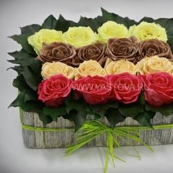 Стабилизированные цветы. Декоративная интерьерная композиция арт. STB1409