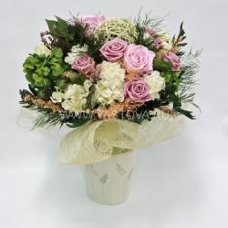 Стабилизированные цветы. Декоративная интерьерная композиция арт. STB1412