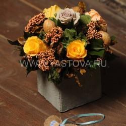 Стабилизированные цветы. Декоративная интерьерная композиция арт. STB1420