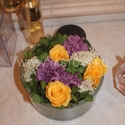Стабилизированные цветы. Декоративная интерьерная композиция арт. STB1460