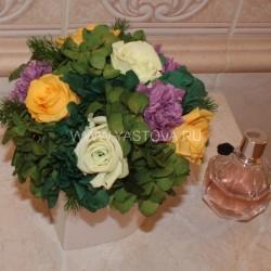 Стабилизированные цветы. Декоративная интерьерная композиция арт. STB1462