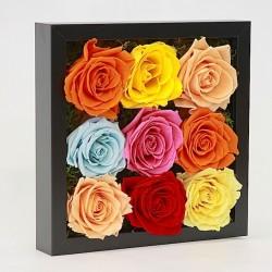 Стабилизированные цветы. Декоративная интерьерная композиция арт. STB2122