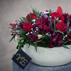 Стабилизированные цветы. Декоративная интерьерная композиция арт. STB2125