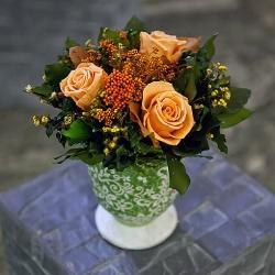 Стабилизированные цветы. Декоративная интерьерная композиция арт. STB2128