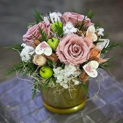 Стабилизированные цветы. Декоративная интерьерная композиция арт. STB2129