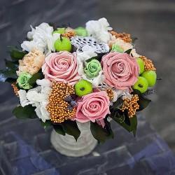 Стабилизированные цветы. Декоративная интерьерная композиция арт. STB2131