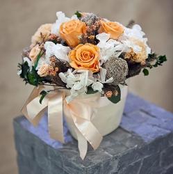 Стабилизированные цветы. Декоративная интерьерная композиция арт. STB2132