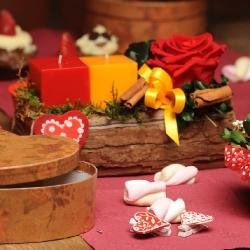 композиция валентинка из стабилизированных цветов