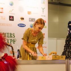 Елизавета ястова провела мастер класс по работе со стабилизированным материалом на выставке Цветы Экспо 2014