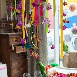 Гавайская вечеринка день рождения. Оформление помещений.