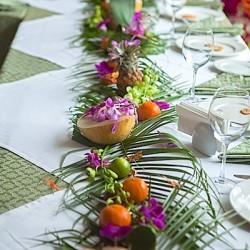 Гавайская вечеринка оформление стола. Заказать оформление праздника.