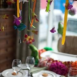 Оформление интерьера ресторана. Декор помещений на праздник.