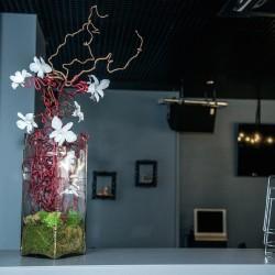 оформление ресторана цветами