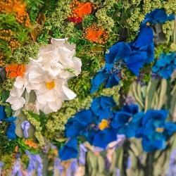 Картина из цветов, ирисы, Ван Гог.