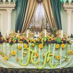 осенняя свадьба цветы