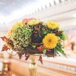 осенняя свадьба оформление зала