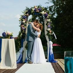 морская свадьба арка из живых цветов
