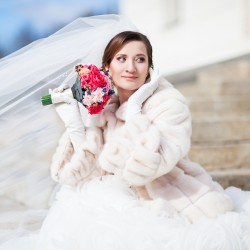 свадебный букет из стабилизированных цветов