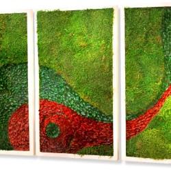 зеленая стена из стабилизированных растений
